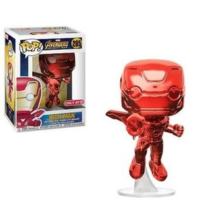 Chrome Red Card Exclusive Iron Man Funko Pop